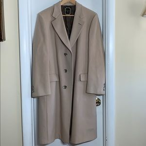 Christian Dior vintage men's wool coat trench